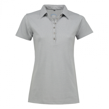 BIOACTIVE Damen-Poloshirt in grau